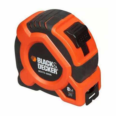 Купить Рулетка измерительная 8 метров BLACK+DECKER BDHT0-30095. Инструмент Black Deker Украина, официальный фирменный магазин