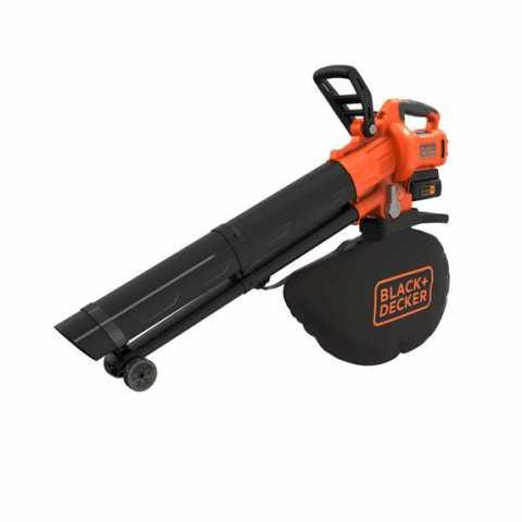 Купить Садовый пылесос аккумуляторный бесщеточный BLACK+DECKER BCBLV3625L1. Инструмент Black Deker Украина, официальный фирменный магазин