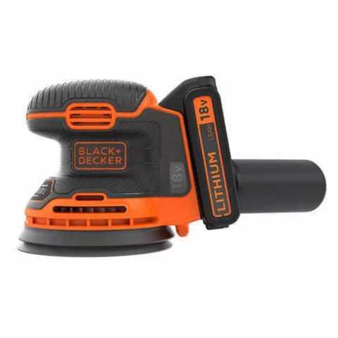 Купить Шлифмашина эксцентриковая аккумуляторная BLACK+DECKER BDCROS18. Инструмент Black Deker Украина, официальный фирменный магазин