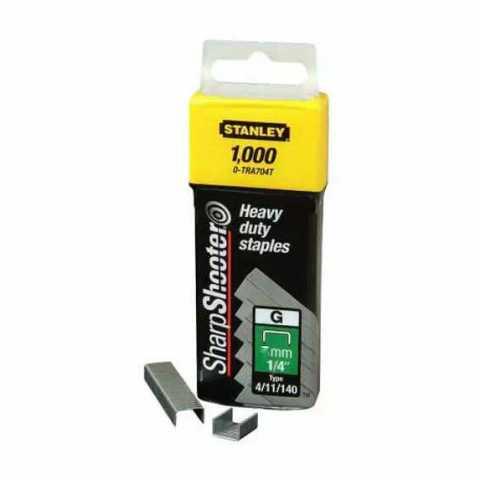 Купить Скобы тип G высотой 6 мм для степлера Heavy Duty, в упаковке 1000 шт STANLEY 1-TRA704T. Инструмент DeWALT Украина, официальный фирменный магазин