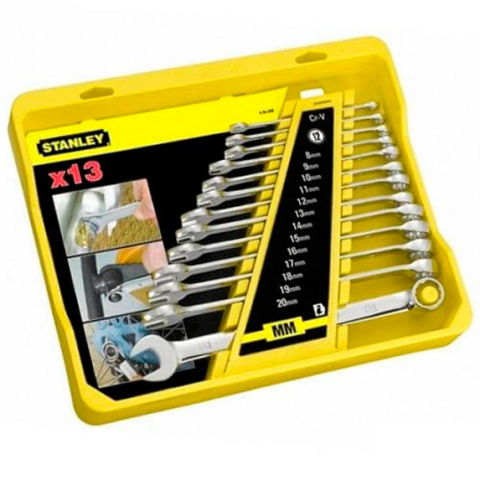 Купить инструмент Stanley Набор ключей гаечных комбинированных STANLEY 4-94-648 фирменный магазин Украина. Официальный сайт по продаже инструмента Stanley