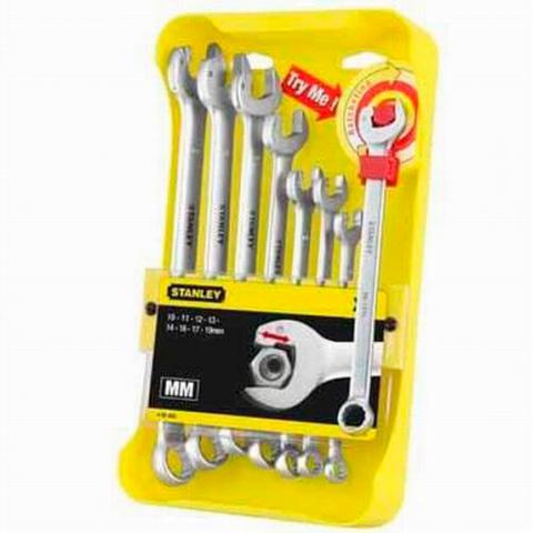 Купить инструмент Stanley Набор ключей гаечных комбинированных STANLEY 4-95-660 фирменный магазин Украина. Официальный сайт по продаже инструмента Stanley