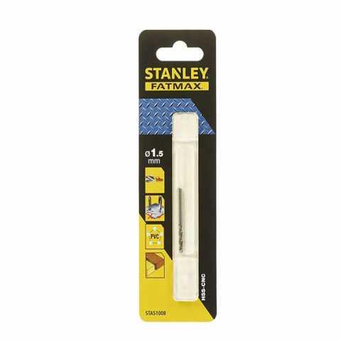 Купить Сверло универсальное HSS-CNC 1,5 мм, L=40 x18 мм, STANLEY STA51008. Инструмент DeWALT Украина, официальный фирменный магазин