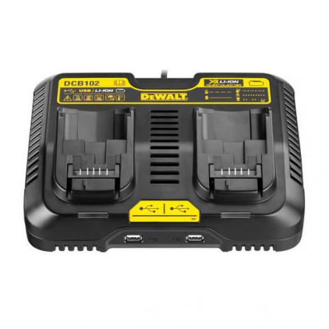 Купить инструмент DeWALT Зарядное устройство двухрядное DeWALT DCB102 фирменный магазин Украина. Официальный сайт по продаже инструмента DeWALT