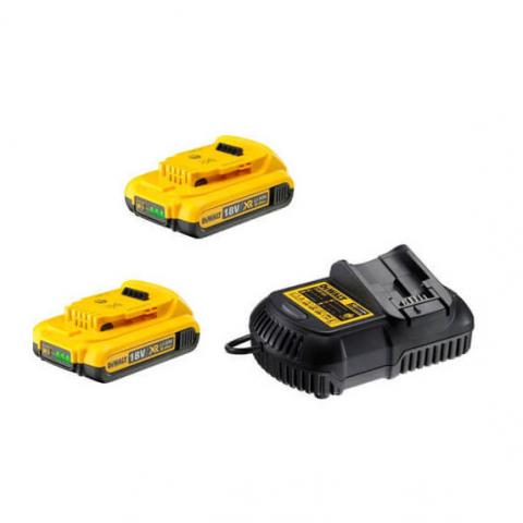 Купить инструмент DeWALT Зарядное устройство и 2 аккумулятора DCB183 2Ач DeWALT DCB105D2 фирменный магазин Украина. Официальный сайт по продаже инструмента DeWALT