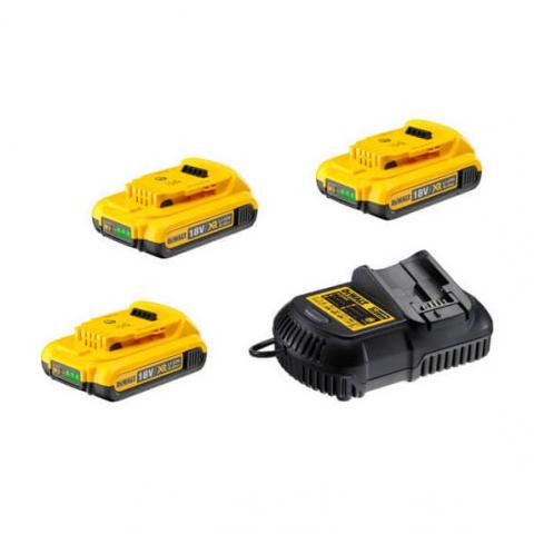 Купить инструмент DeWALT Зарядное устройство и 3 аккумулятора DCB183 2Ач DeWALT DCB105D3 фирменный магазин Украина. Официальный сайт по продаже инструмента DeWALT