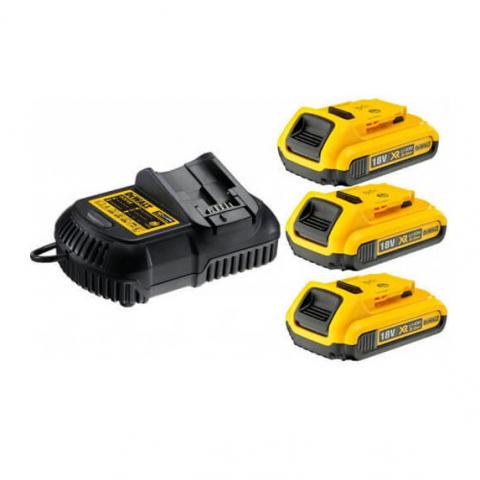 Купить инструмент DeWALT Зарядное устройство и 3 аккумулятора DCB183 2Ач DeWALT DCB115D3 фирменный магазин Украина. Официальный сайт по продаже инструмента DeWALT