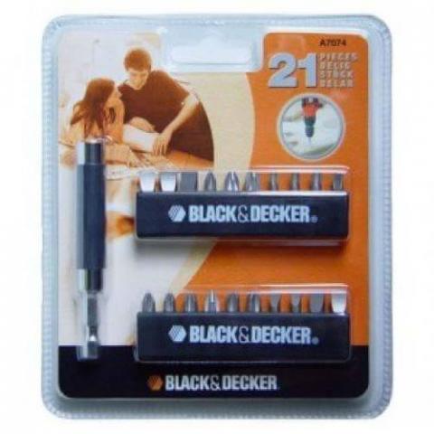 Купить аксессуары Black Decker Набор из 21 предмета BLACK&DECKER A7074 фирменный магазин Украина. Официальный сайт по продаже инструмента Black Decker