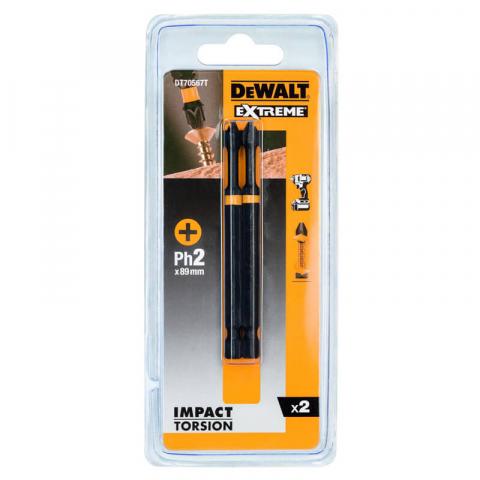 Купить аксессуары Биты ударные IMPACT TORSION EXTREME длиной 89 мм 2 штуки DeWALT DT70567T фирменный магазин Украина. Официальный сайт по продаже инструмента DeWALT
