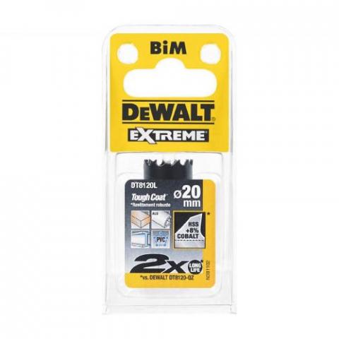 Купить аксессуары Цифенбор биметаллический диаметр 20 мм DeWALT DT8120L фирменный магазин Украина. Официальный сайт по продаже инструмента DeWALT