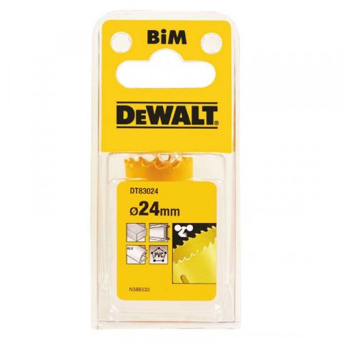 Купить аксессуары Цифенбор биметаллический диаметр 24 мм DeWALT DT83024 фирменный магазин Украина. Официальный сайт по продаже инструмента DeWALT