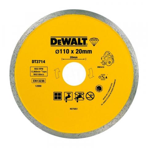 Купить аксессуары Диск алмазный для плиткореза DWC410 DeWALT DT3714 фирменный магазин Украина. Официальный сайт по продаже инструмента DeWALT