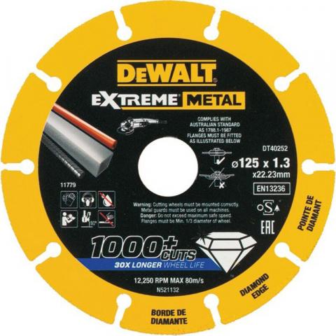 Купить аксессуары Диск алмазный по металлу DeWALT DT40252 фирменный магазин Украина. Официальный сайт по продаже инструмента DeWALT