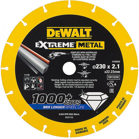 Купить аксессуары Диск алмазный по металлу DeWALT DT40255 фирменный магазин Украина. Официальный сайт по продаже инструмента DeWALT