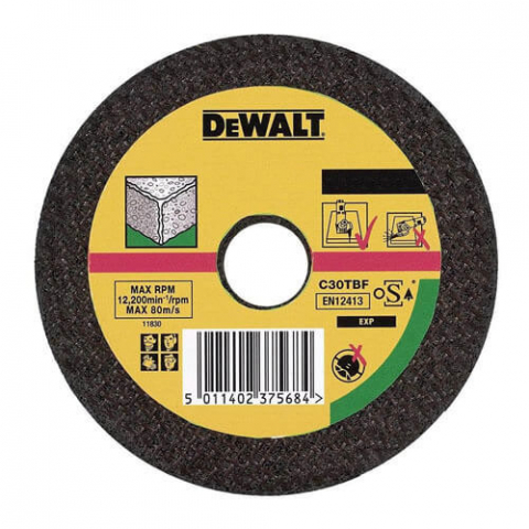 Купить аксессуары Круг отрезной по камню диаметр 115 мм DeWALT DT3401-QZ фирменный магазин Украина. Официальный сайт по продаже инструмента DeWALT