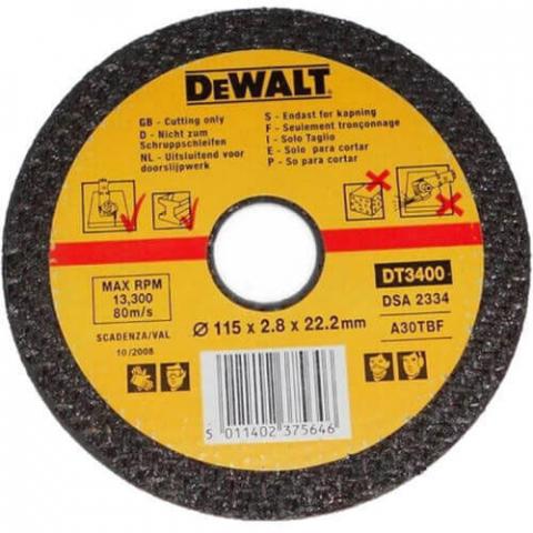 Купить аксессуары Круг отрезной по металлу диаметр 115 мм DeWALT DT3400-QZ фирменный магазин Украина. Официальный сайт по продаже инструмента DeWALT