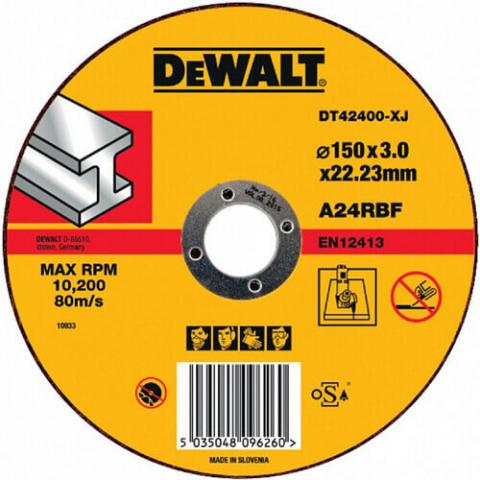 Купить аксессуары Круг отрезной по металлу диаметр 150 мм DeWALT DT42400 фирменный магазин Украина. Официальный сайт по продаже инструмента DeWALT