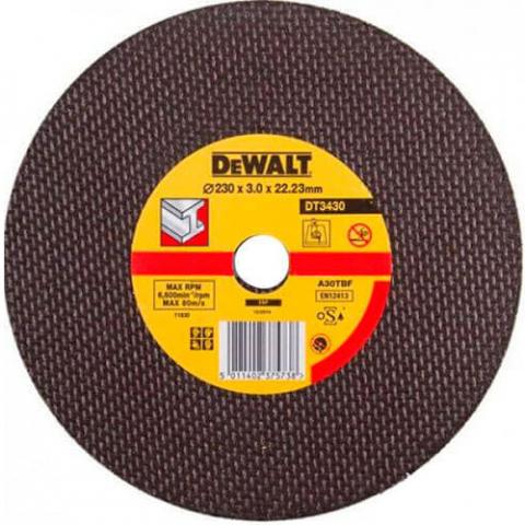 Купить аксессуары Круг отрезной по металлу диаметр 230 мм DeWALT DT3430-QZ фирменный магазин Украина. Официальный сайт по продаже инструмента DeWALT