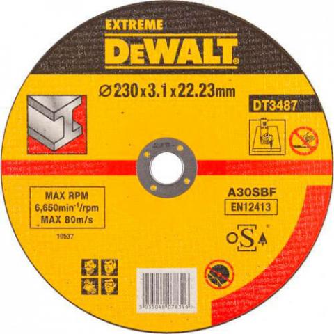 Купить аксессуары Круг отрезной по металлу EXTREME диаметр 230 мм DeWALT DT3487-QZ фирменный магазин Украина. Официальный сайт по продаже инструмента DeWALT