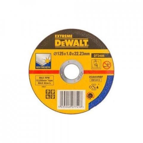 Купить аксессуары Круг отрезной по металлу INOX диаметр 125 мм DeWALT DT3486-QZ фирменный магазин Украина. Официальный сайт по продаже инструмента DeWALT
