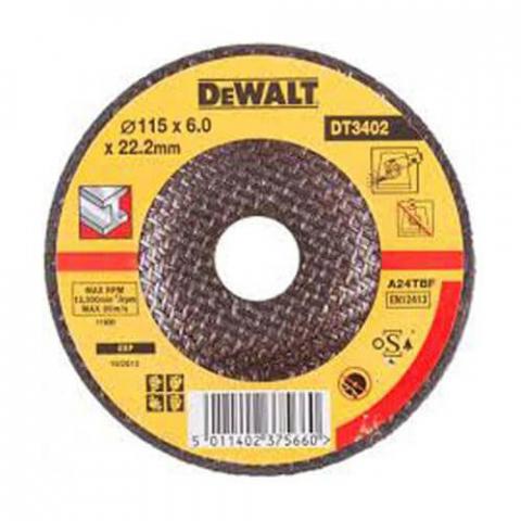 Купить аксессуары Круг шлифовальный по металлу диаметр 115 мм DeWALT DT3402-QZ фирменный магазин Украина. Официальный сайт по продаже инструмента DeWALT