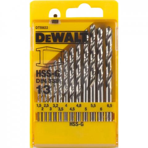 Купить аксессуары Набор сверл по металлу HSS-G DeWALT DT5922 фирменный магазин Украина. Официальный сайт по продаже инструмента DeWALT