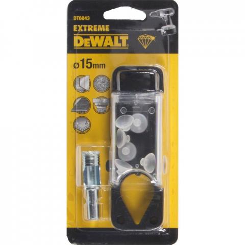 Купить аксессуары Сверло алмазное по керамической плитке диаметр 15 мм DeWALT DT6043 фирменный магазин Украина. Официальный сайт по продаже инструмента DeWALT