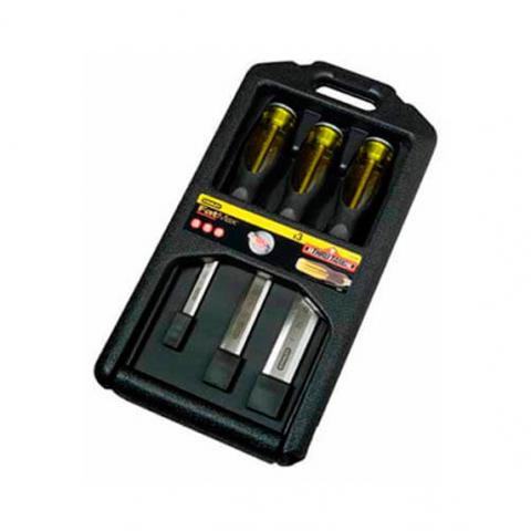 Купить инструмент Stanley Набор стамесок профессиональных STANLEY 2-16-270 фирменный магазин Украина. Официальный сайт по продаже инструмента Stanley
