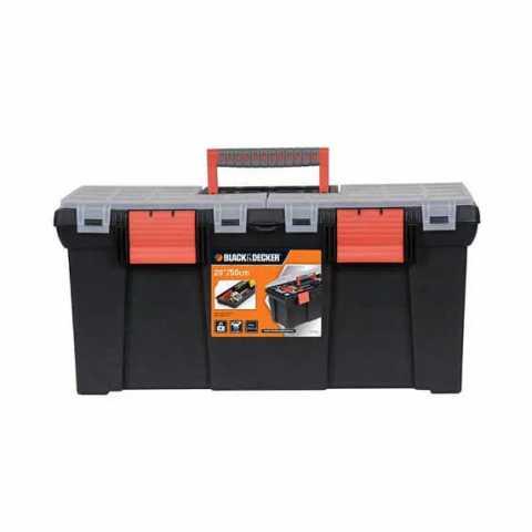 Купить Ящик инструментальный на два замка размером 500 мм BLACK+DECKER BDST1-70582. Инструмент Black Deker Украина, официальный фирменный магазин