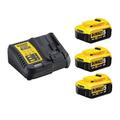 Купить инструмент DeWALT Зарядное устройство и 3 аккумулятора DCB184 5Ач DeWALT DCB115P3 фирменный магазин Украина. Официальный сайт по продаже инструмента DeWALT