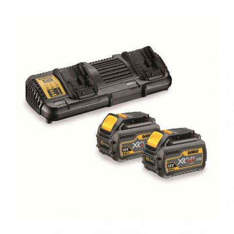 Купить инструмент DeWALT Зарядное устройство + 2 аккумулятора XR FLEXVOLT DeWALT DCB132T2 фирменный магазин Украина. Официальный сайт по продаже инструмента DeWALT